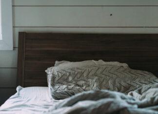 Wykończenie ściany za łóżkiem