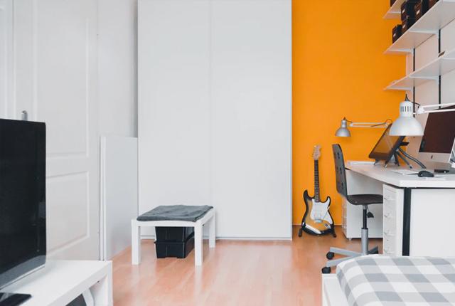 Kolor pomarańczowy we wnętrzach